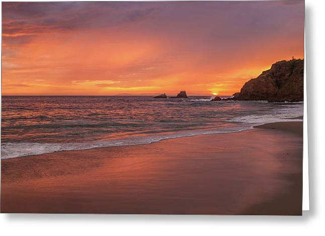 Sundown Over Crescent Beach Greeting Card