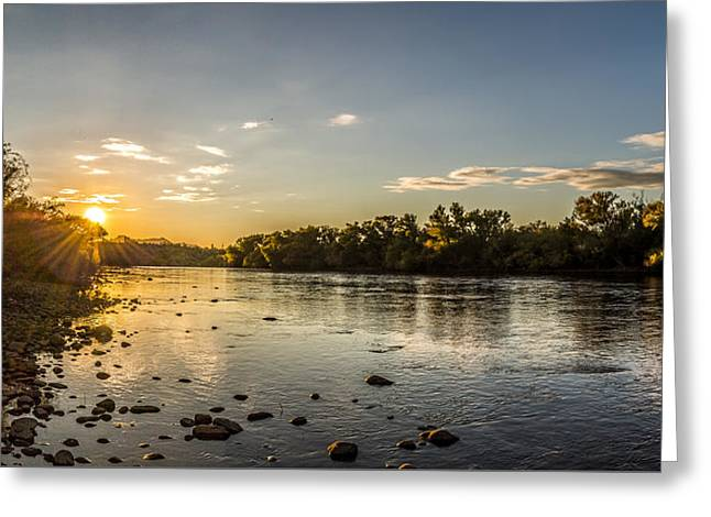 Sundown Over The Salt River Greeting Card by Chuck Brown