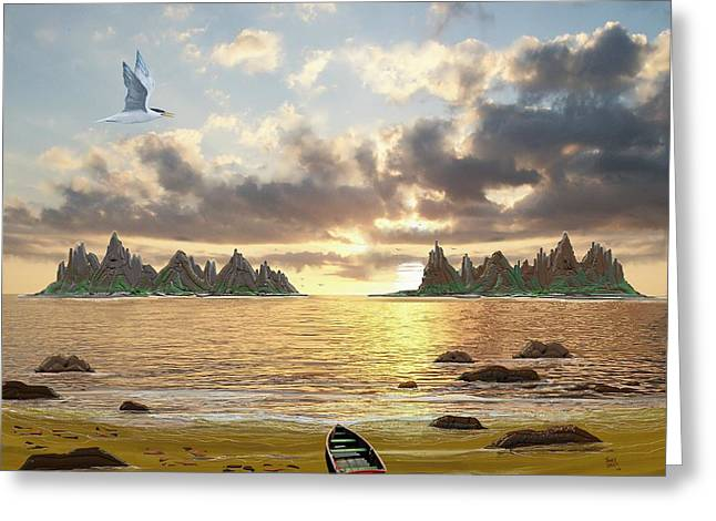 Sundown Seascape Greeting Card