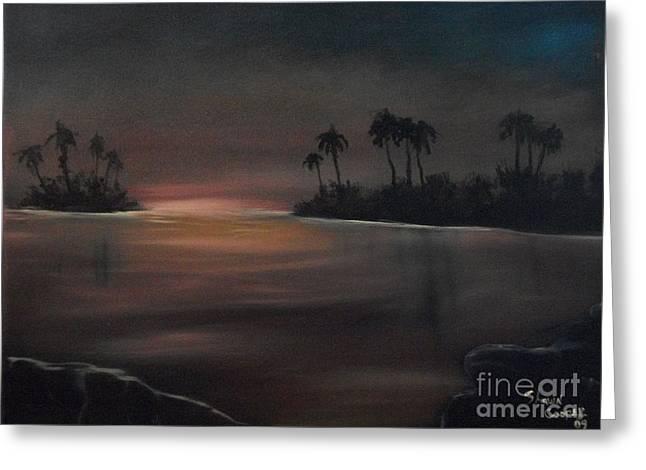 Sundown Greeting Card by Shawn Cooper