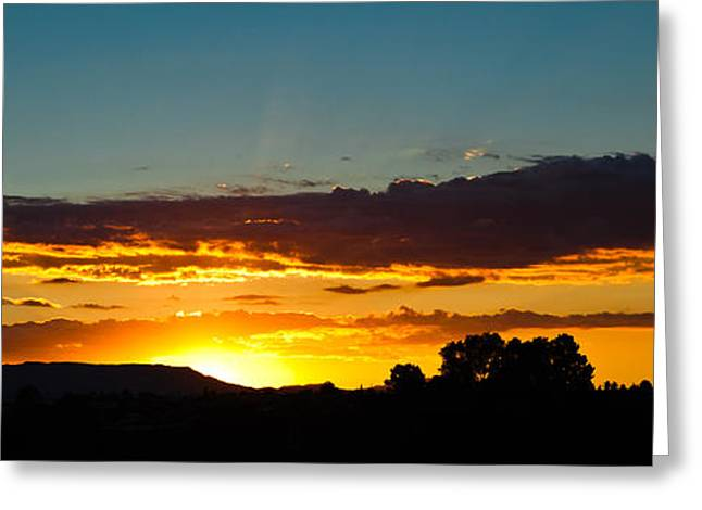 Sundown Greeting Cards - Sundown Silhouette Greeting Card by John Buxton