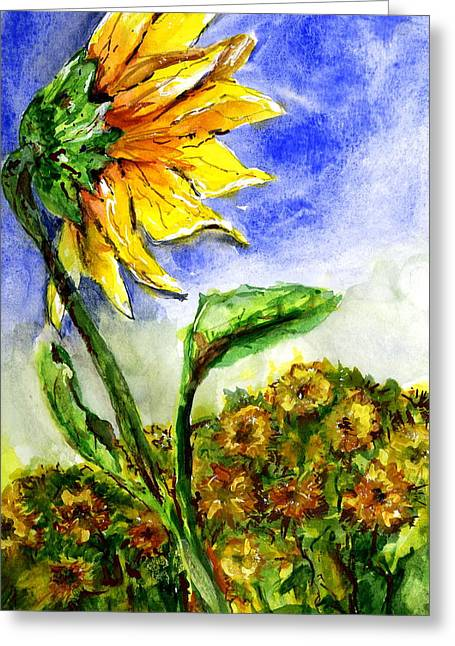 Sunflower 1 Greeting Card by Marilyn Barton