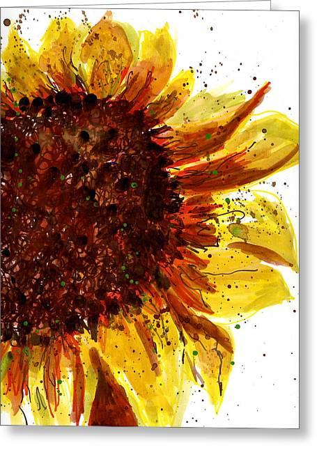 Sunflower 2 Greeting Card by Marilyn Barton