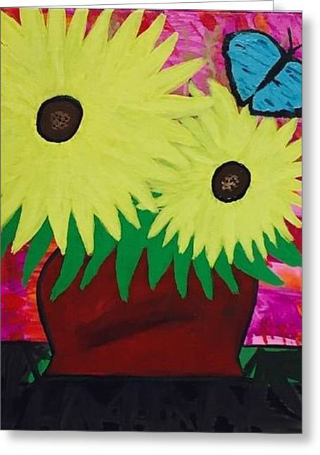Sunflower Acrylic Painting Greeting Card
