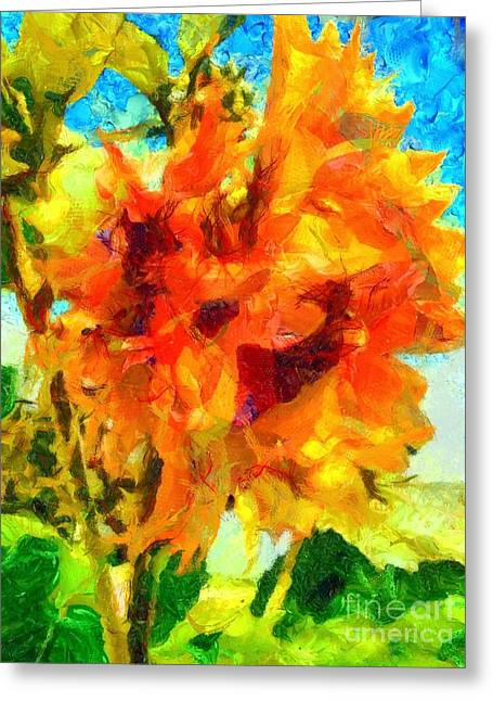 Sunflower Afternoon Impressions Greeting Card