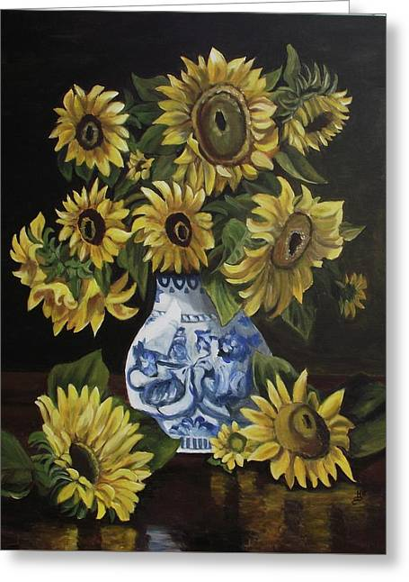 Sunflower Bouquet Greeting Card by Kim Selig