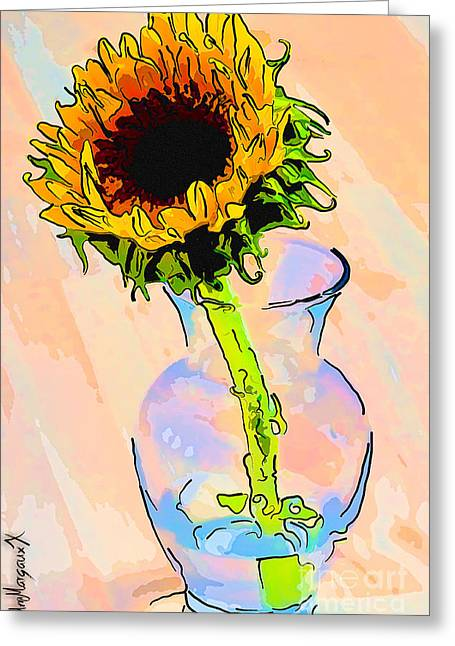 Sunflower Color Greeting Card by Rdm-Margaux Dreamations