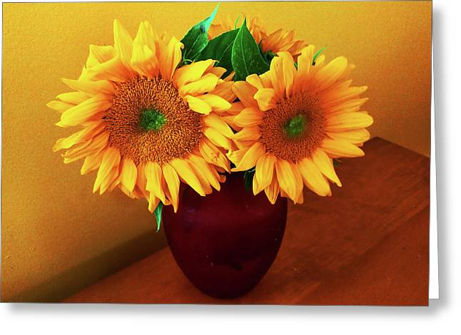 Sunflower Corner Greeting Card