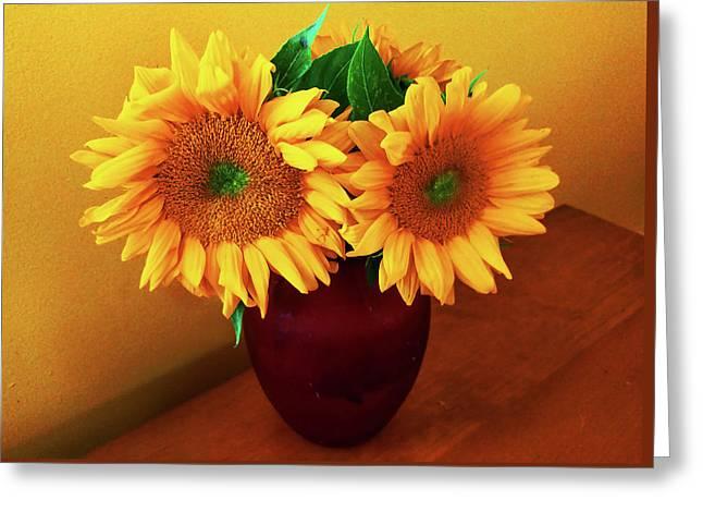 Sunflower Corner Greeting Card