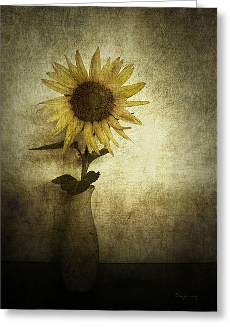 Sunflower Greeting Card by Cynthia Lassiter