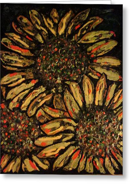 Sunflower Greeting Card by David Sutter