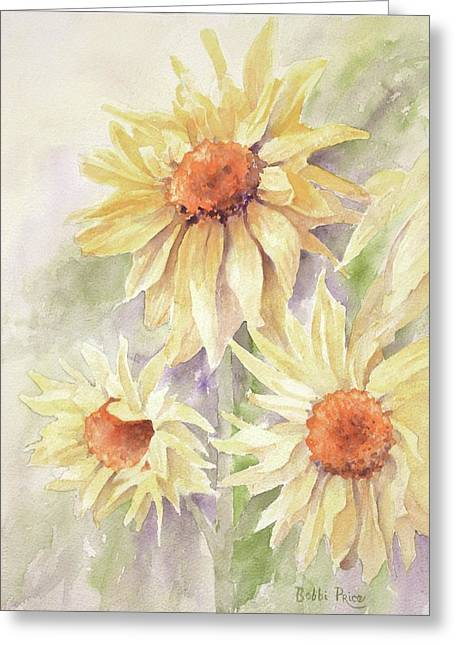 Sunflower Dreams Greeting Card by Bobbi Price