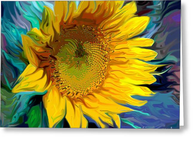 Sunflower For Van Gogh Greeting Card