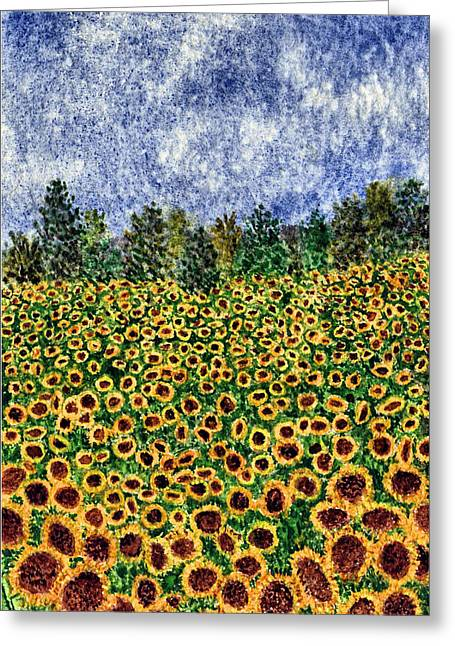 Sunflower Galaxy Greeting Card