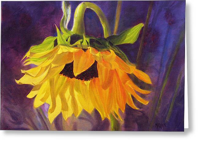 Sunflower Glow Greeting Card