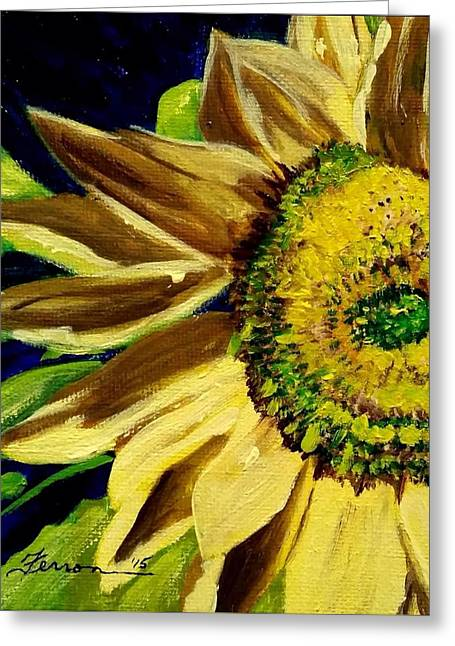 Greeting Card featuring the painting Sunflower Glow by Patti Ferron