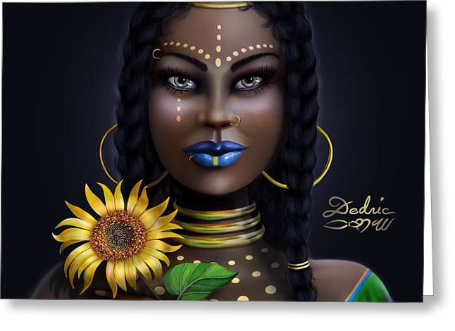 Sunflower Goddess  Greeting Card