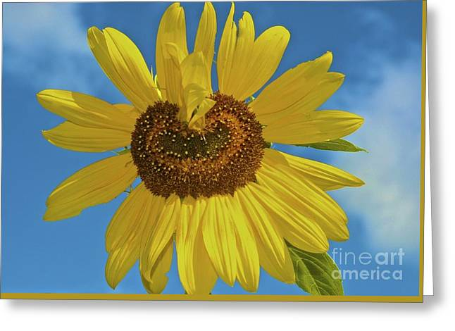 Sunflower Heart Greeting Card