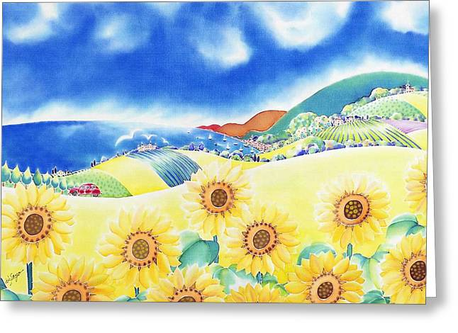 Sunflower Hills Greeting Card