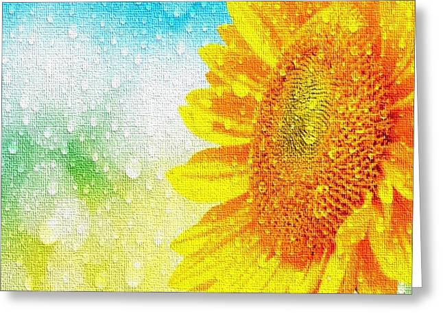 Sunflower In A Sunshower Greeting Card