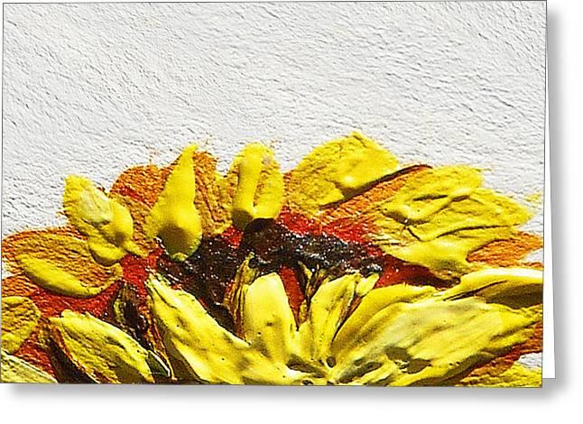Sunflower Greeting Card by Irina Sztukowski