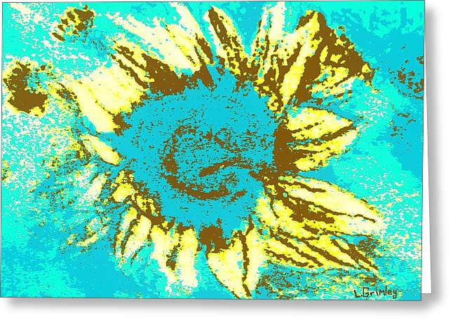 Sunflower Greeting Card by Lessandra Grimley