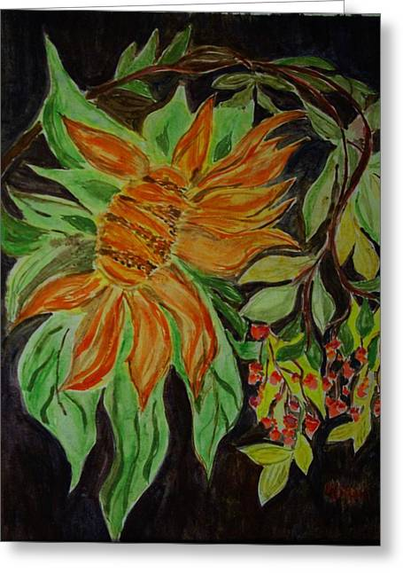 Sunflower  Greeting Card by Liliana Andrei