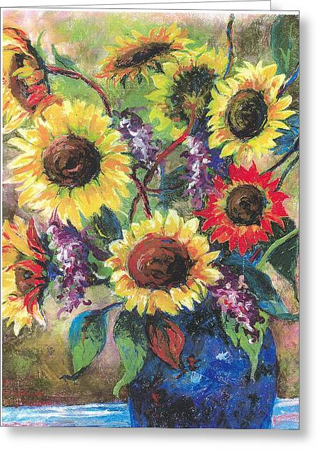 Sunflower Medley Greeting Card by Grace Goodson