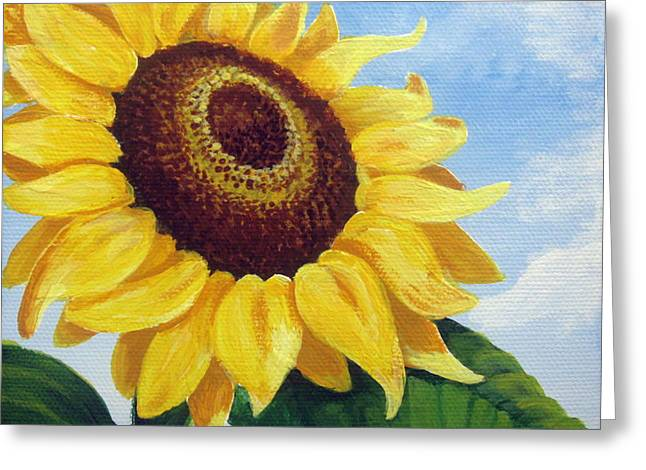 Sunflower Moment Greeting Card by Sharon Marcella Marston