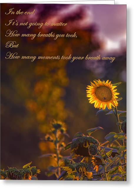 Sunflower Moments Greeting Card