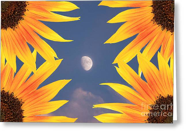 Sunflower Moon Greeting Card