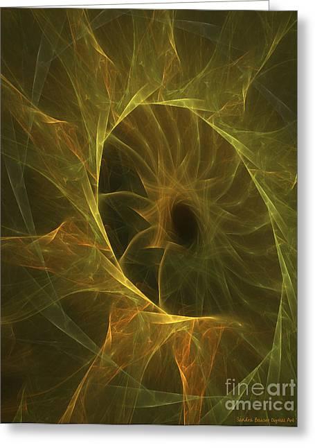 Sunflower Nebula Greeting Card by Sandra Bauser Digital Art