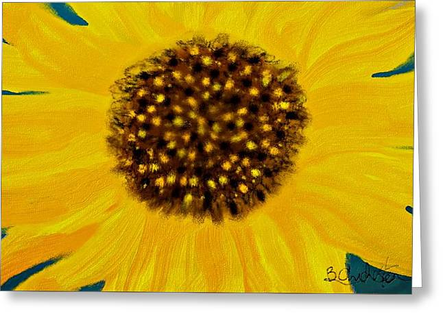 Sunflower Painting Greeting Card