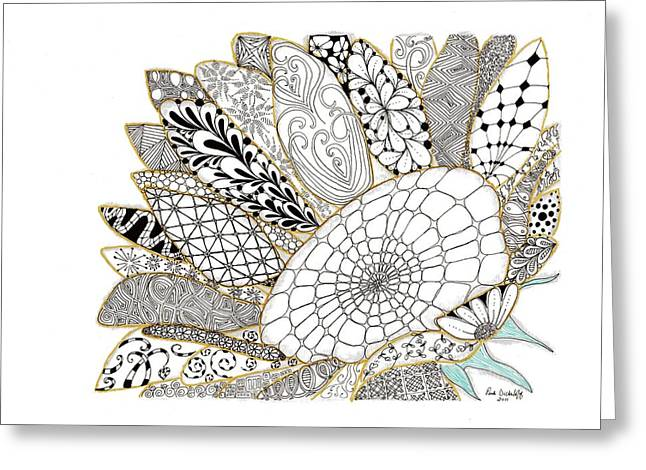 Sunflower Greeting Card by Paula Dickerhoff
