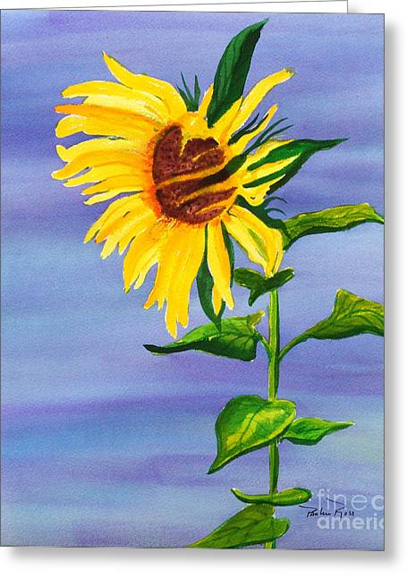 Sunflower Greeting Card by Pauline Ross