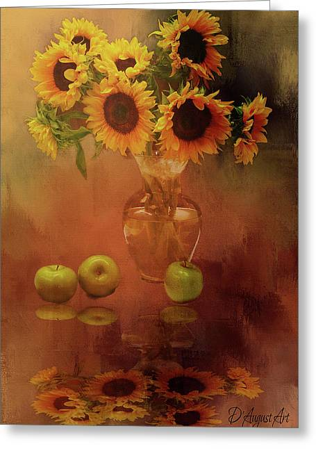 Sunflower Reflections Greeting Card by Theresa Campbell