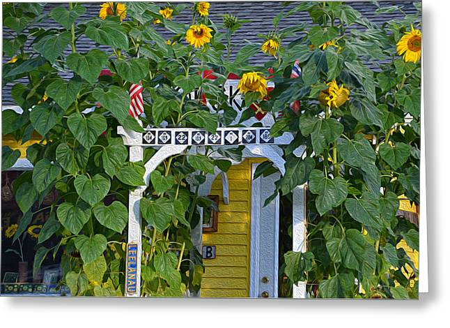 Greeting Card featuring the photograph Sunflower Roads by SimplyCMB