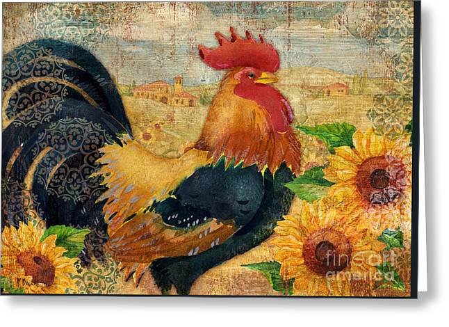 Sunflower Roost Greeting Card by Paul Brent