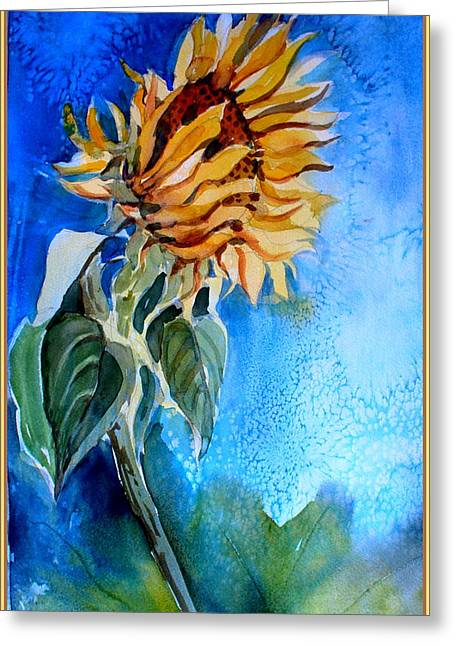 Sunflower Salute Greeting Card by Mindy Newman
