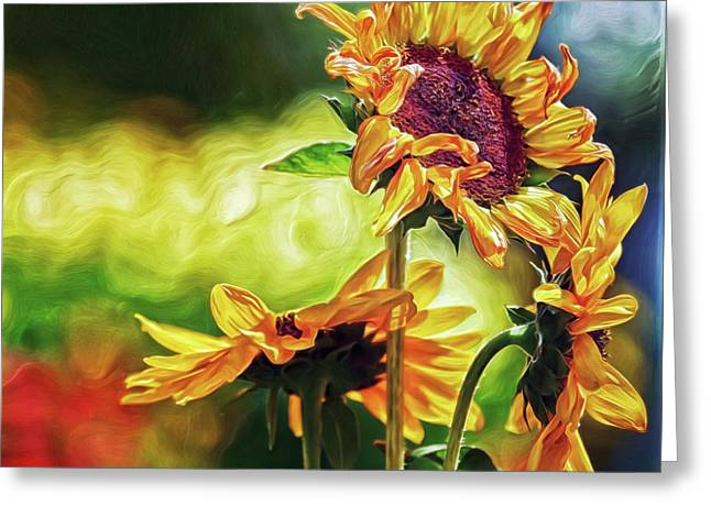 Greeting Card featuring the digital art Sunflower Season by Doctor Mehta