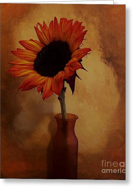 Sunflower Seed Maker Greeting Card by Marsha Heiken