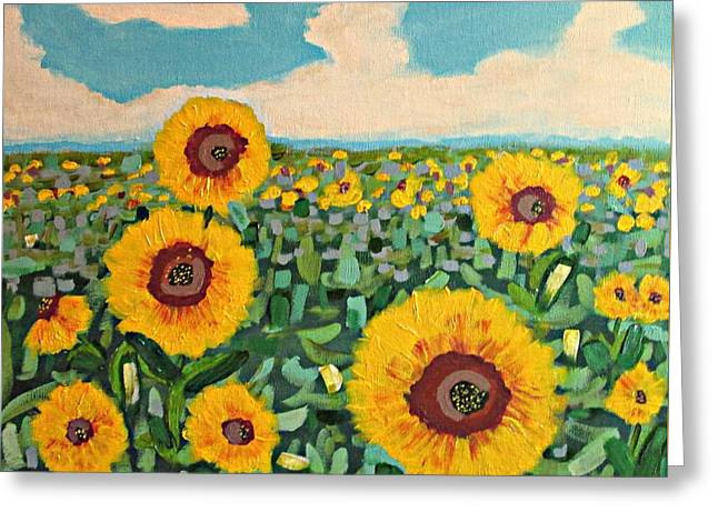 Sunflower Serendipity Greeting Card