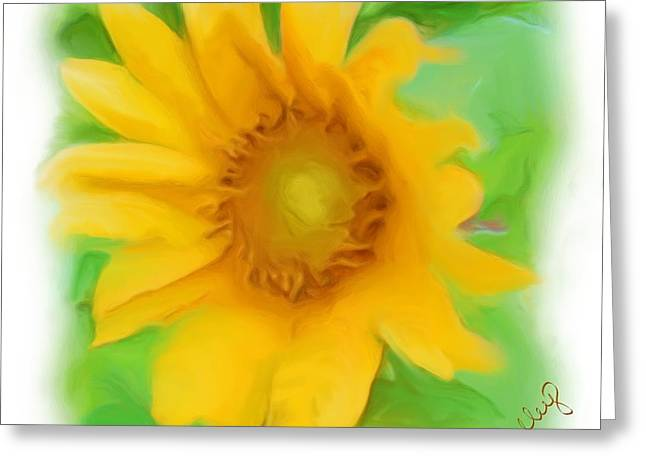 Greeting Card featuring the painting Sunflower by Shelley Bain