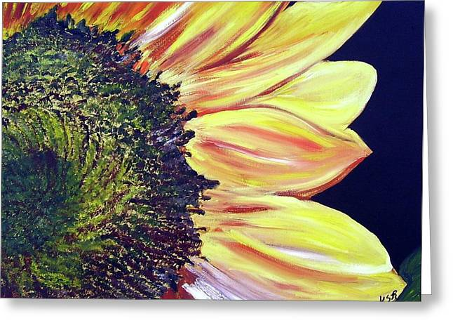 Sunflower Single Greeting Card by Maria Soto Robbins