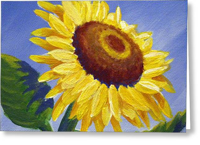 Sunflower Skies Greeting Card by Sharon Marcella Marston