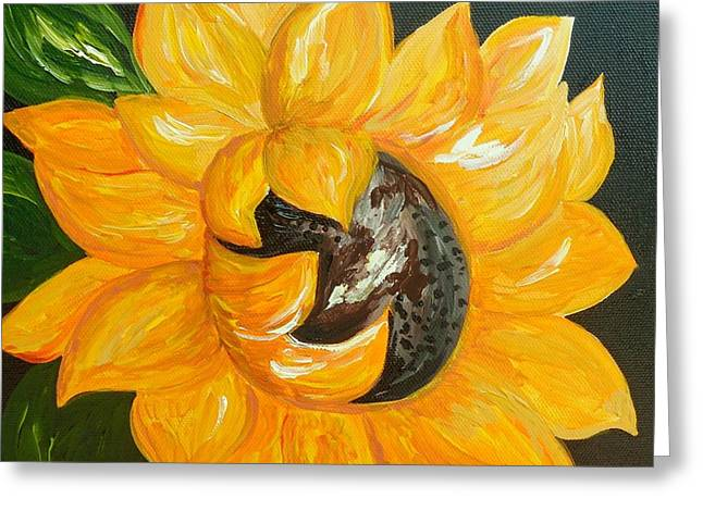 Sunflower Solo Greeting Card by Eloise Schneider