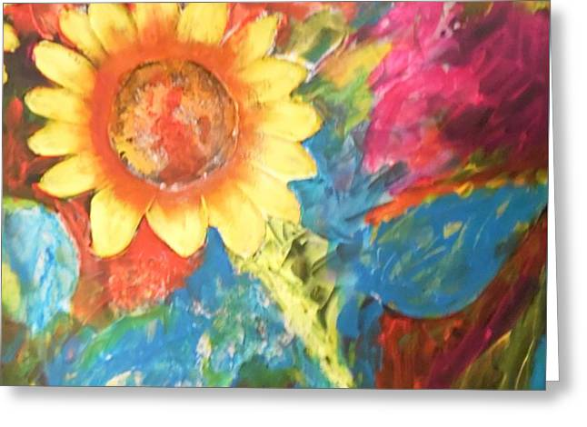 Sunflower Song Greeting Card
