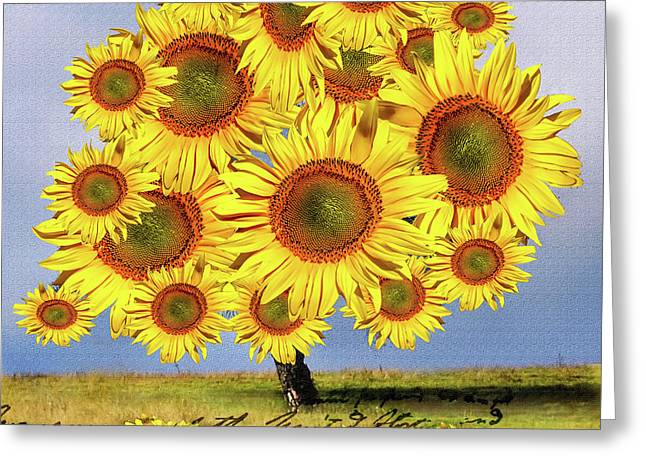Sunflower Tree Greeting Card