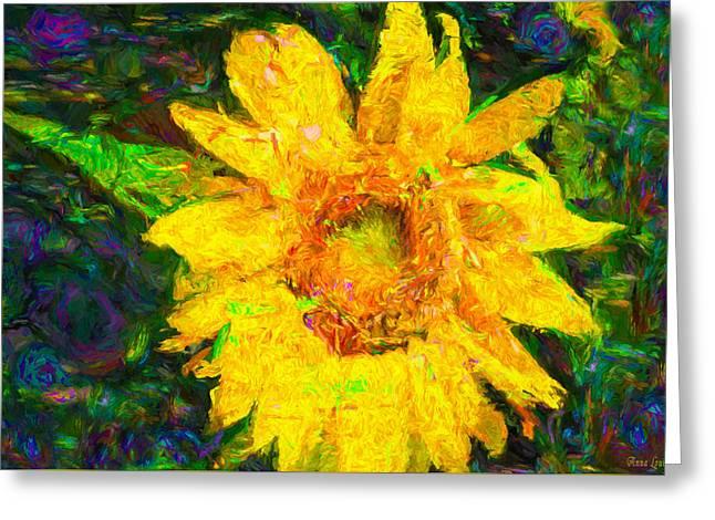 Sunflower Van Gogh Greeting Card