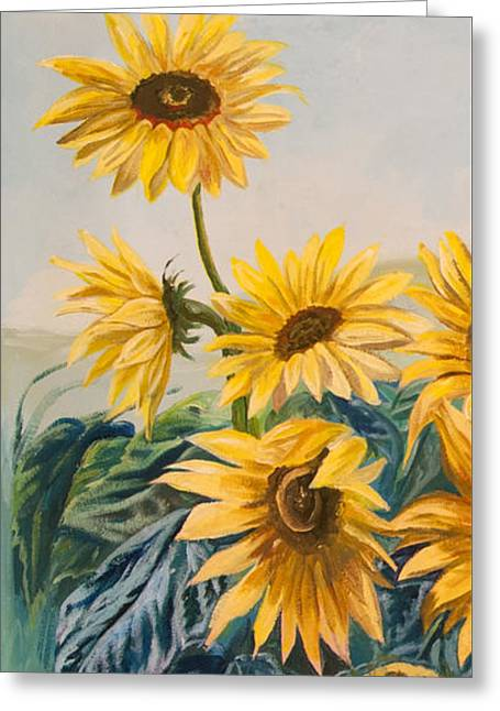 Sunflowers 1 Greeting Card by Jana Goode